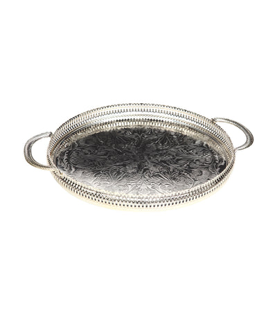 queen anne round gallery tray (35cm)