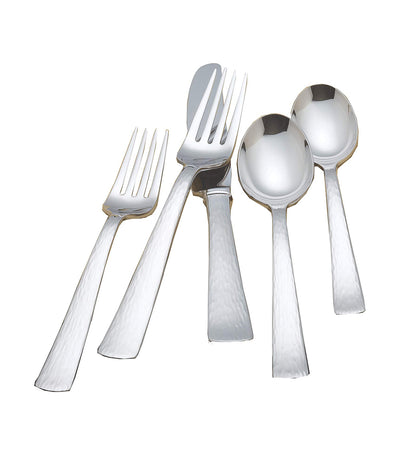 reed & barton stainless steel silver echo 5-piece cutlery set