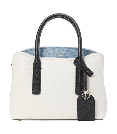 Margaux Mini Leather Satchel Parchment