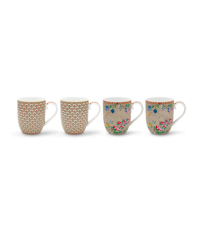 pip studio khaki small mugs set of 4