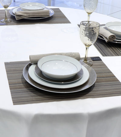 rustans home damask white tablecloth 60X90