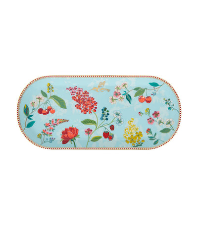 pip studio hummingbirds blue cake tray