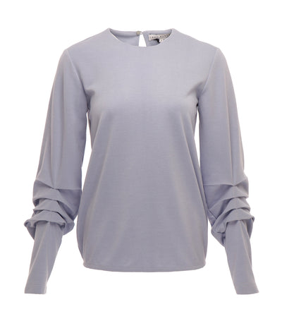 lady rustan porlana modern long sleeves top light blue
