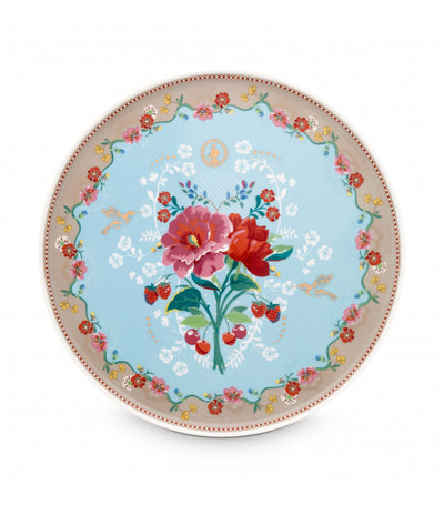 pip studio rose blue cake tray- 30.5 CM