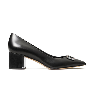 Tory Burch Gigi Embellished Pointed-Toe Pump - Perfect Black