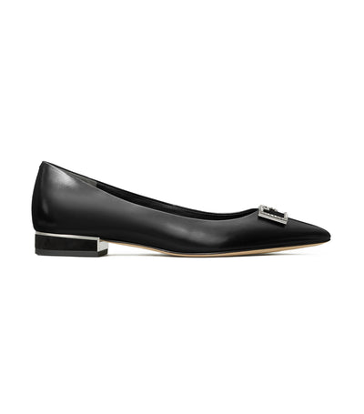 Tory Burch Gigi Embellished Pointed-Toe Flat - Perfect Black
