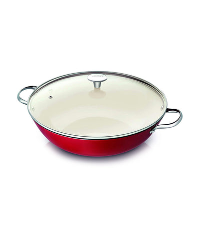 beka arome wok with glass lid 34 cm