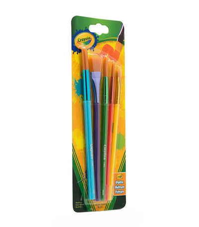 crayola arts & crafts brushes - 5 count