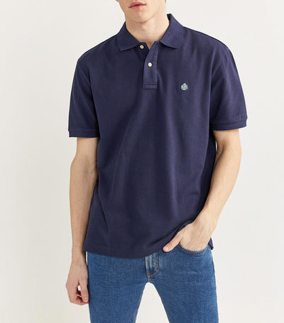 Essential Pique Polo Shirt Navy
