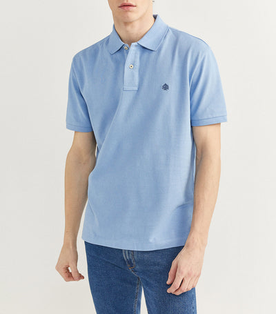 Essential Pique Polo Shirt Light Blue