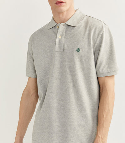 Essential Pique Polo Shirt Gray