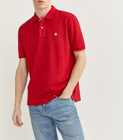 Essential Pique Polo Shirt Red