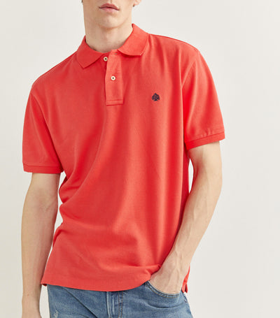 Essential Pique Polo Shirt Orange