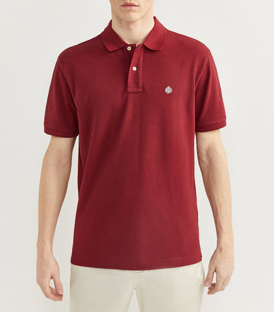 Essential Pique Polo Shirt Maroon