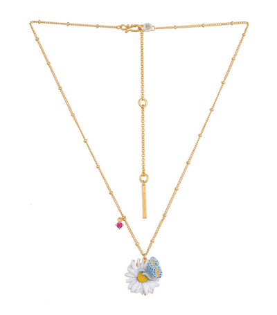 les néréides country daisy and butterfly necklace