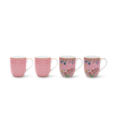 pip studio pink small mugs set of 4
