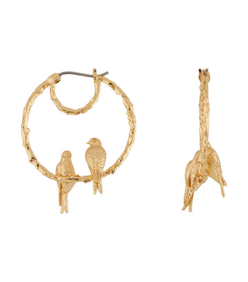 les néréides swallow duo small hoop earrings