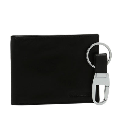 steve madden billfold with key fob black