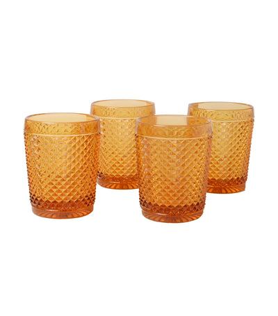 vista alegre bicos ambar set with 4 old-fashioned glasses
