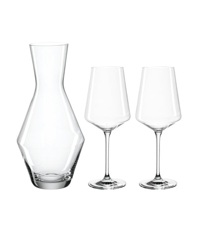 Puccini Wine Glass with Carafe - Set of 3