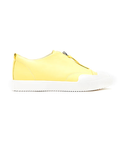 Athleisure Zipped Sneakers Yellow
