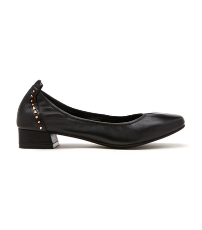 Studded Square Toe Classic Pumps Black