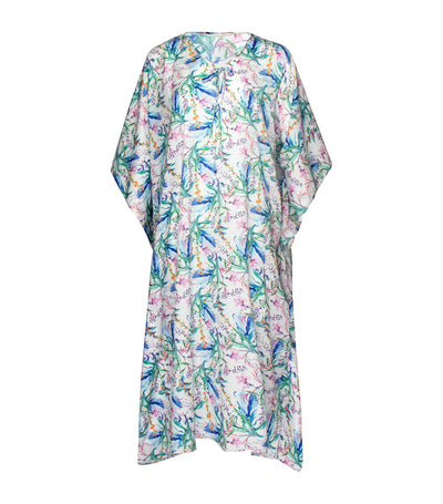 luna loungewear and sleepwear tina floral caftan blue