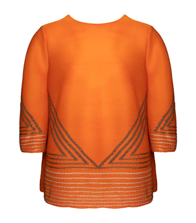 criselda rita pleated blouse orange