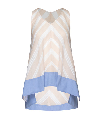 Teresa Sleeveless Shift Top Beige