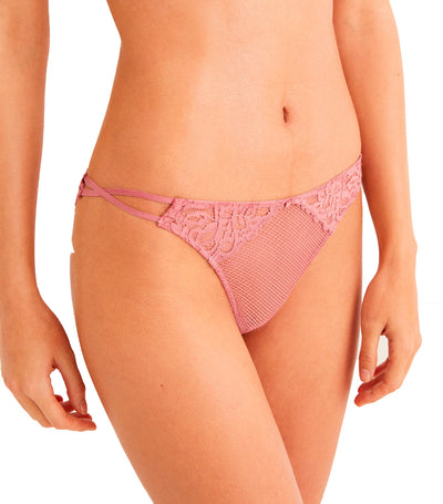 Lace Brazilian Briefs Pink
