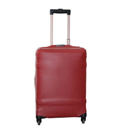 Plain Red Luggage Cover Medium