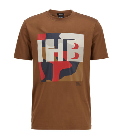 Tiburt 161 Cotton T-Shirt Dark Brown