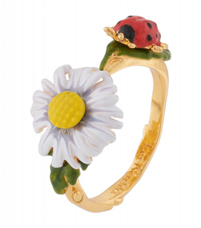 les néréides country daisy and ladybug ring