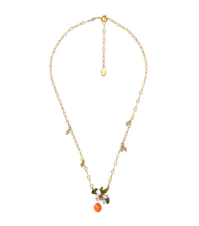les néréides orange, orange blossom, and little pearl necklace