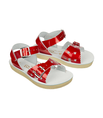 salt-water sandals kids candy red sweetheart premium