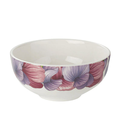 "portmeirion botanic blooms 5.5"" rimless bowl sweet pea set of 4"