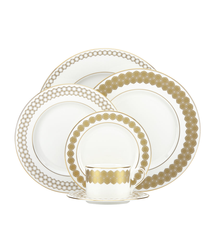 Prismatic Gold 5-Piece Place Setting