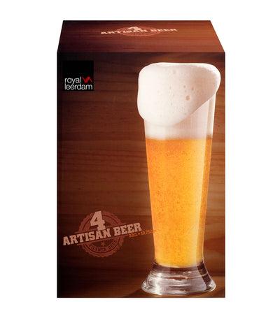 Four-Piece Artisan Pilsner Set 12.5 ounces