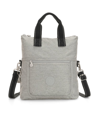 Eleva Chalk Gray Handbag