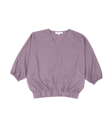 Marley Long-Sleeved V-Neck Blouse Lilac