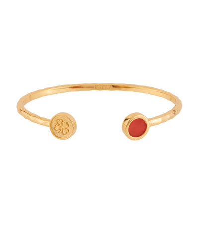 les néréides lucky bangle with strength stone and crown orange