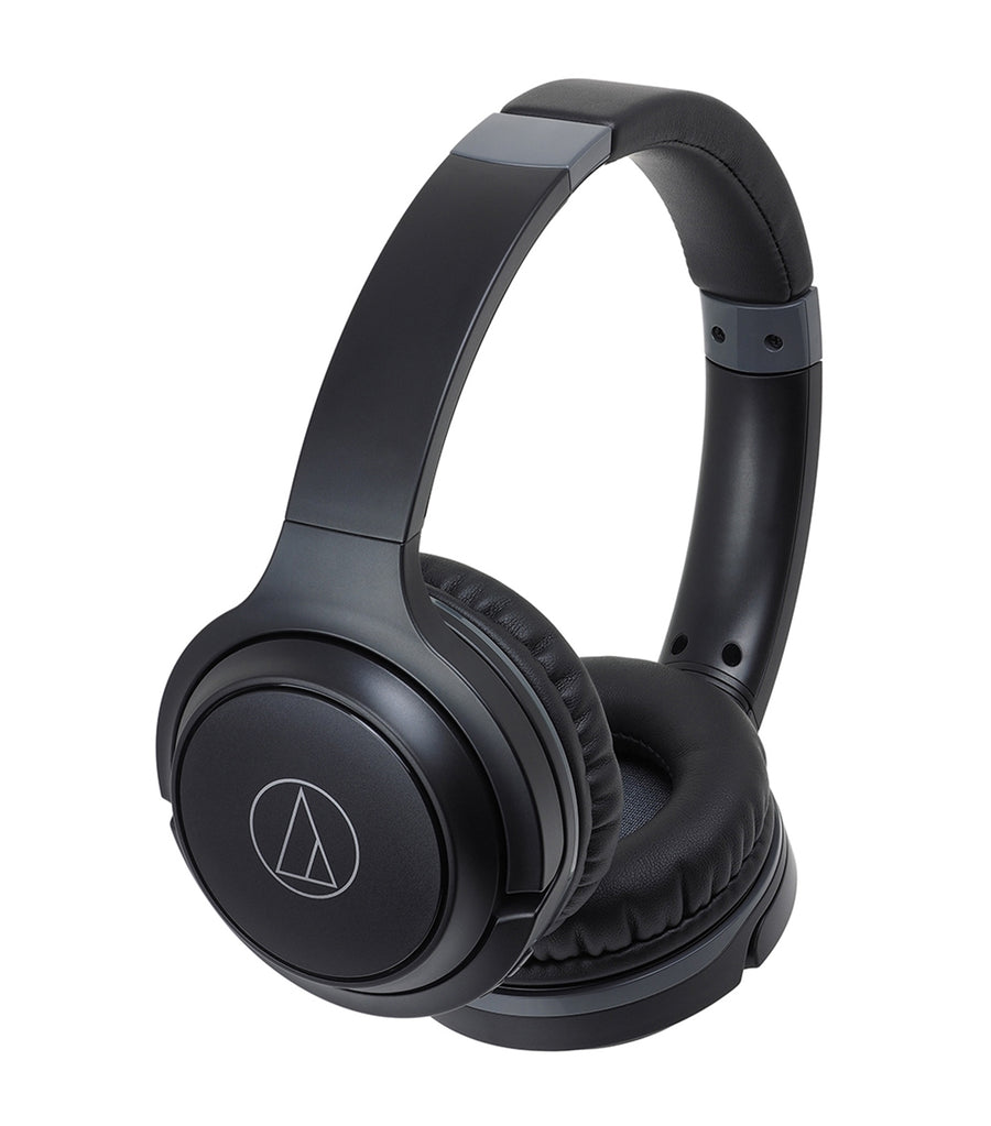 Wireless On-Ear Headphones with Built-In Mic & Controls Black
