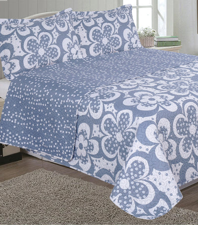 home & main kim printed faux quilt set twin