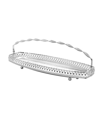 queen anne gallery sandwich tray with swing handles ( 40 cm x 15 cm)