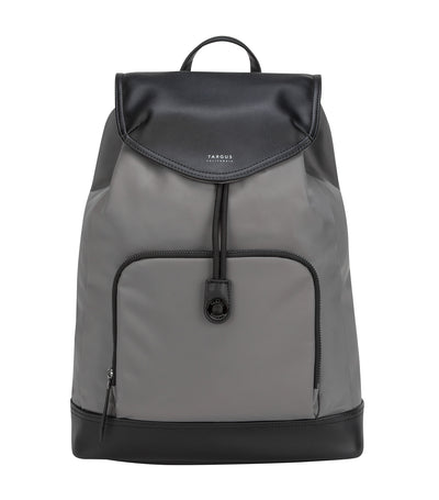 Newport 15in Drawstring Backpack Gray