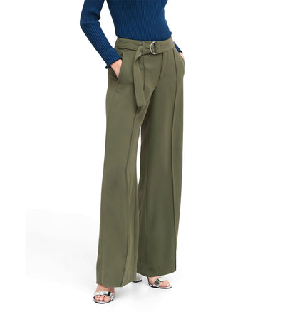 High-Rise Wide-Leg Utility Pant Olive Green