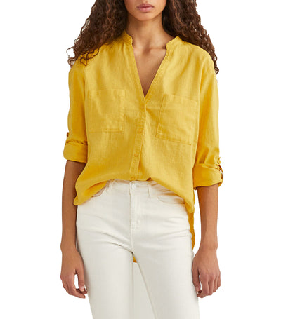 springfield linen shirt -yellow/gold