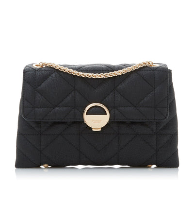Ellenour Quilted Shoulder Bag Black