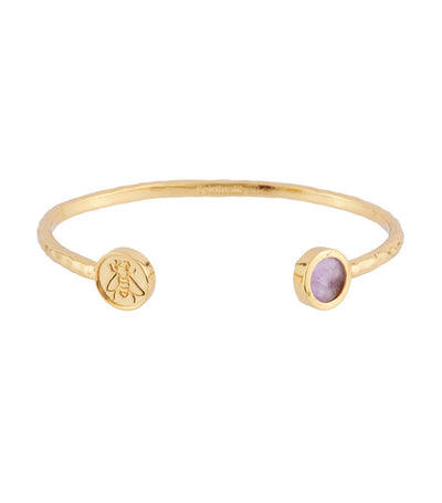 les néréides lucky bangle with spirituality stone and bee