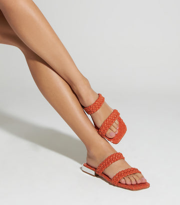 Deluxe Brilho Heeled Sandal Red